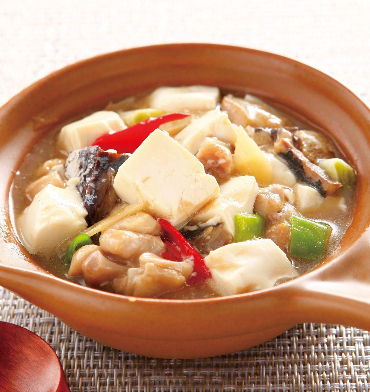 食譜:鹹魚雞粒豆腐