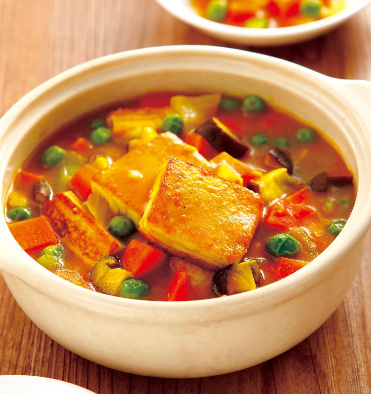 食譜:咖哩豆腐煲