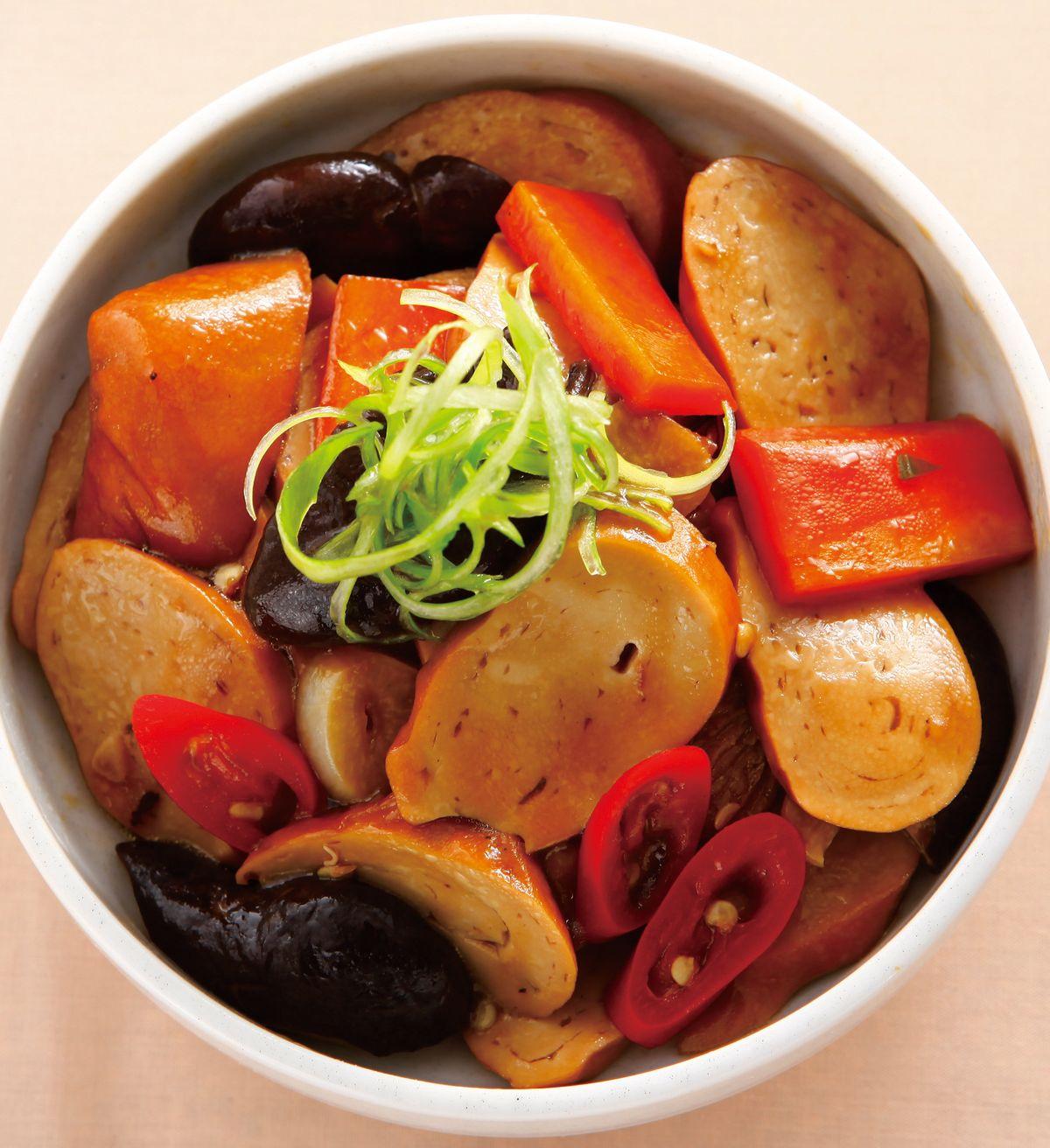 食譜:香菇燒素雞