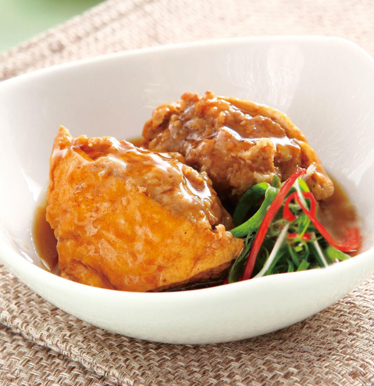 食譜:油豆腐塞肉