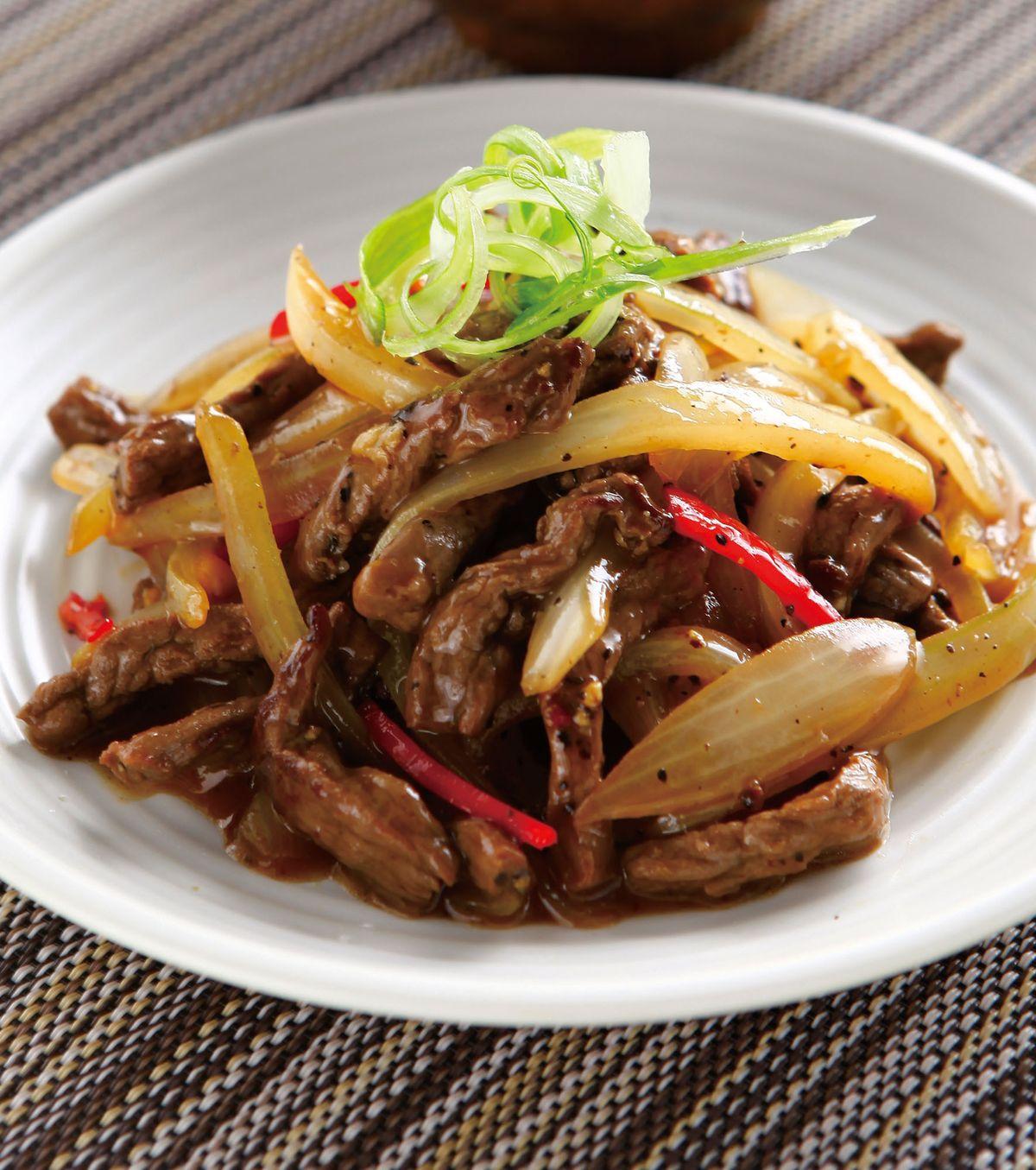食譜:黑椒炒牛柳
