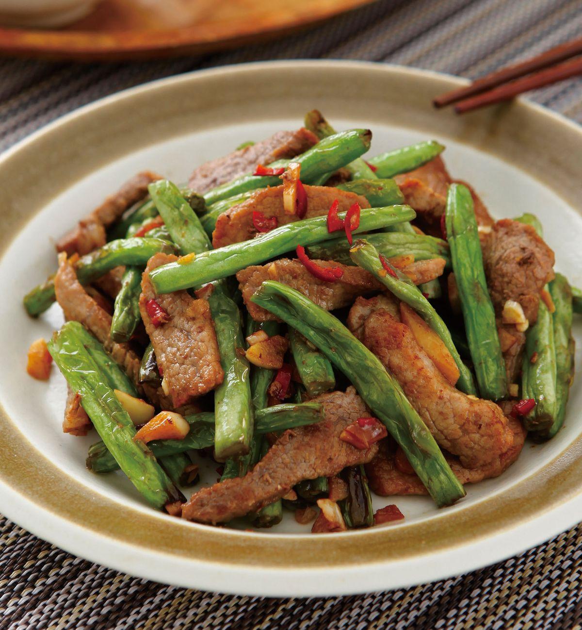 食譜:二層肉煸四季豆