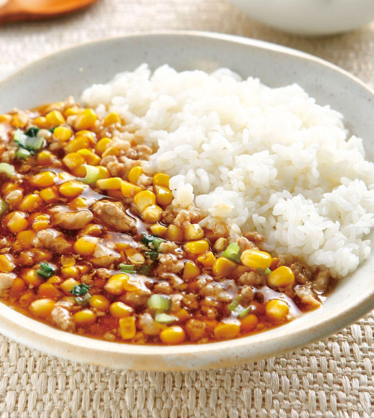 食譜:肉末玉米拌飯