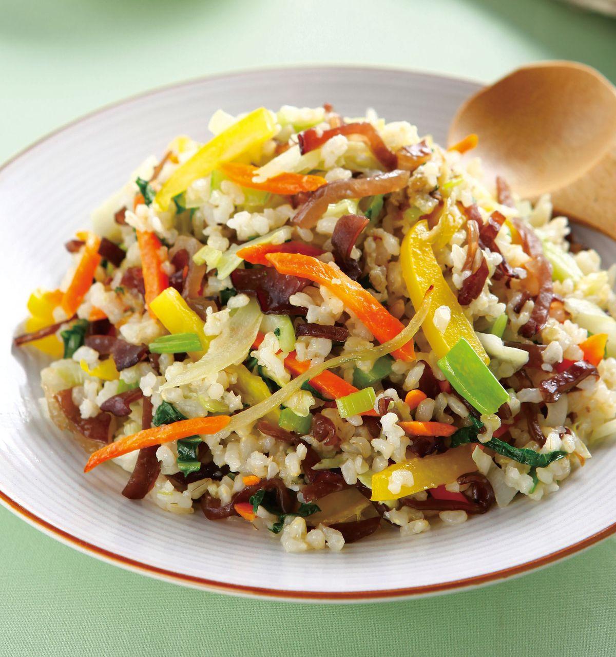 食譜:炒糙米什錦蔬菜