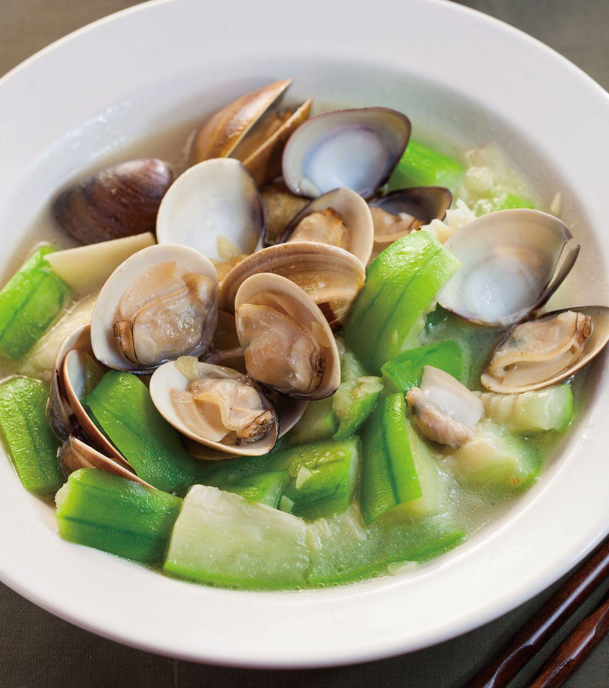 食譜:蛤蠣炒絲瓜