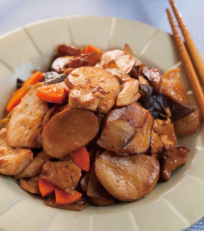 食譜:杏鮑菇燒雞片