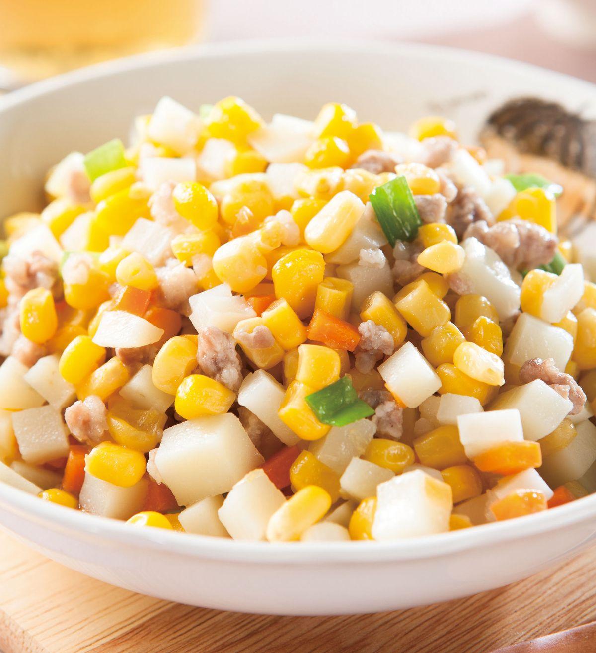 食譜:洋芋炒玉米粒