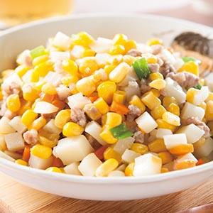 洋芋炒玉米粒