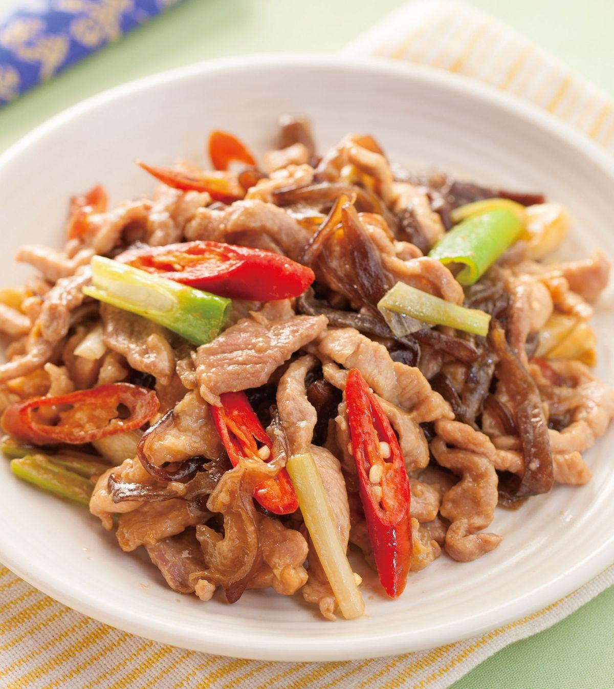 食譜:木耳炒肉絲