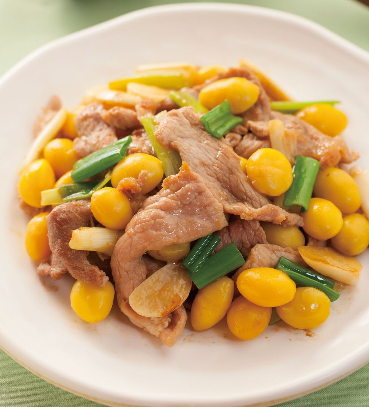 食譜:白果炒肉片