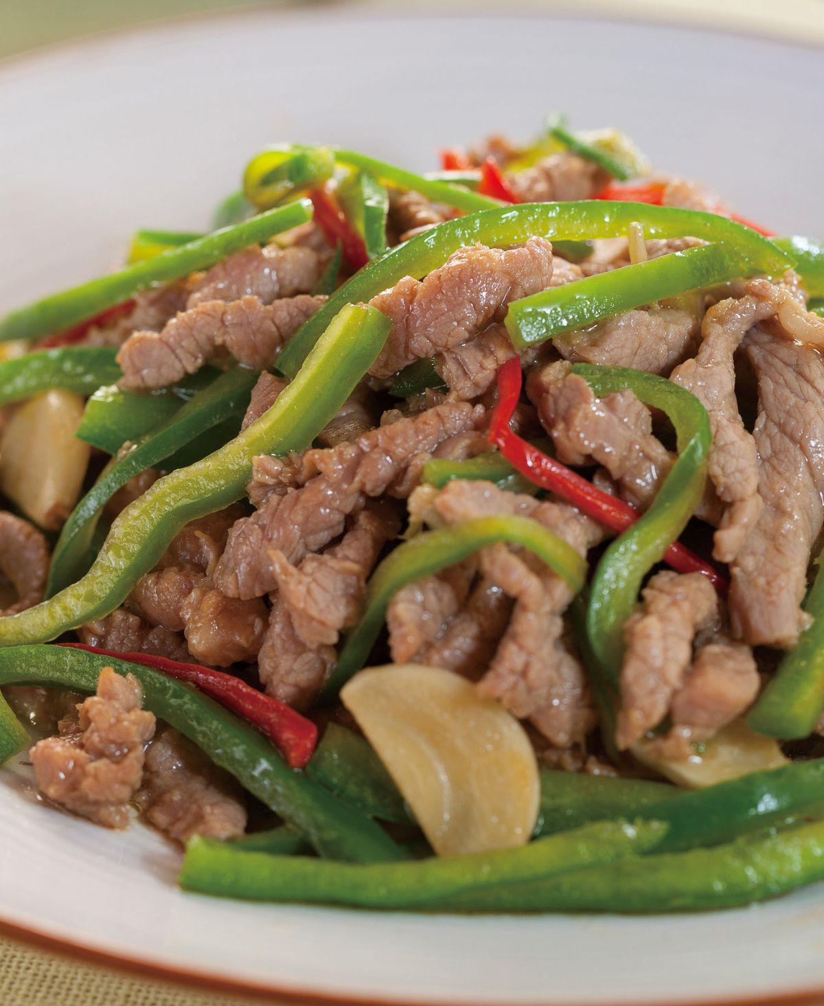 食譜:青椒牛肉絲(4)