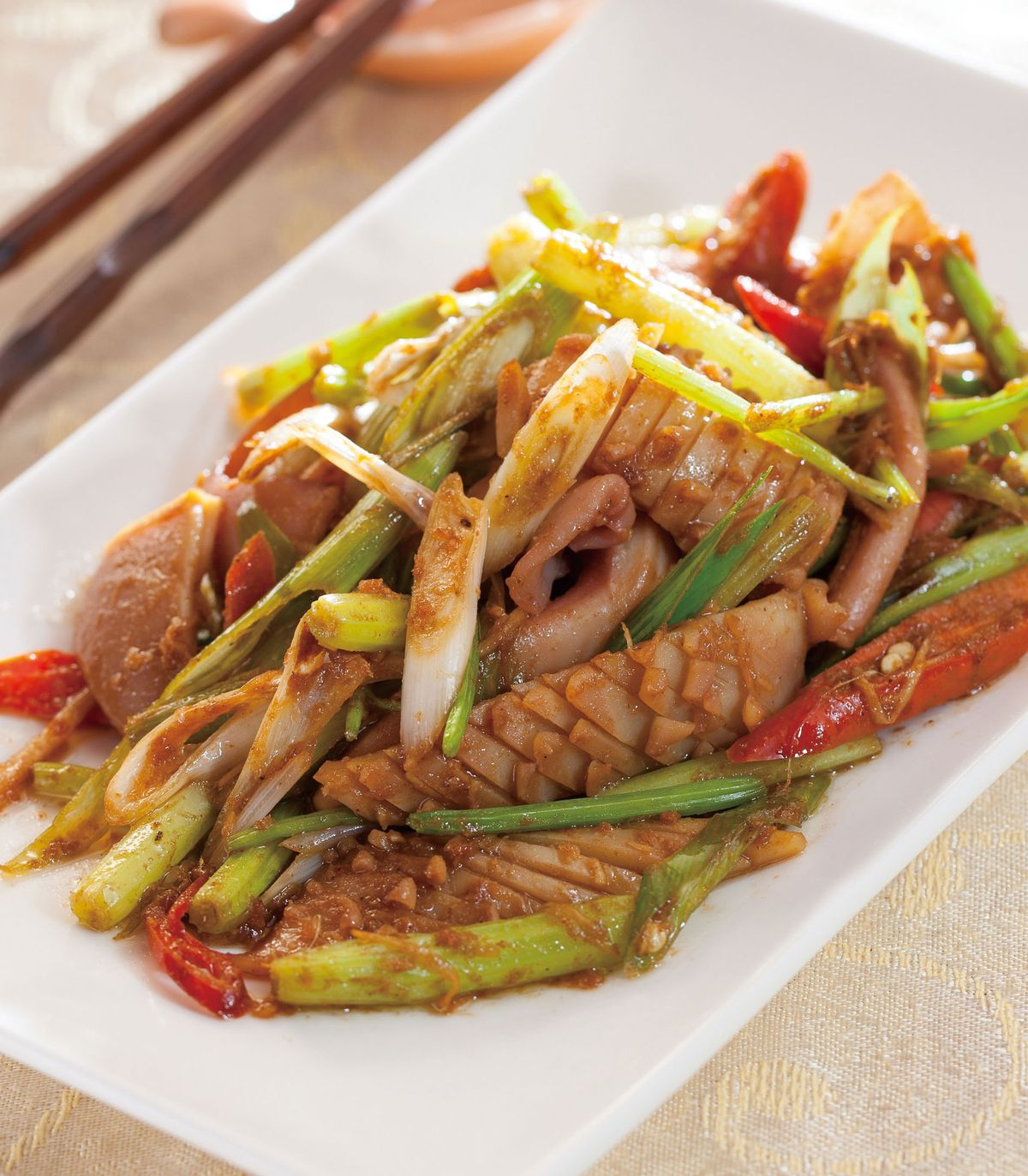 食譜:沙茶炒魷魚(1)
