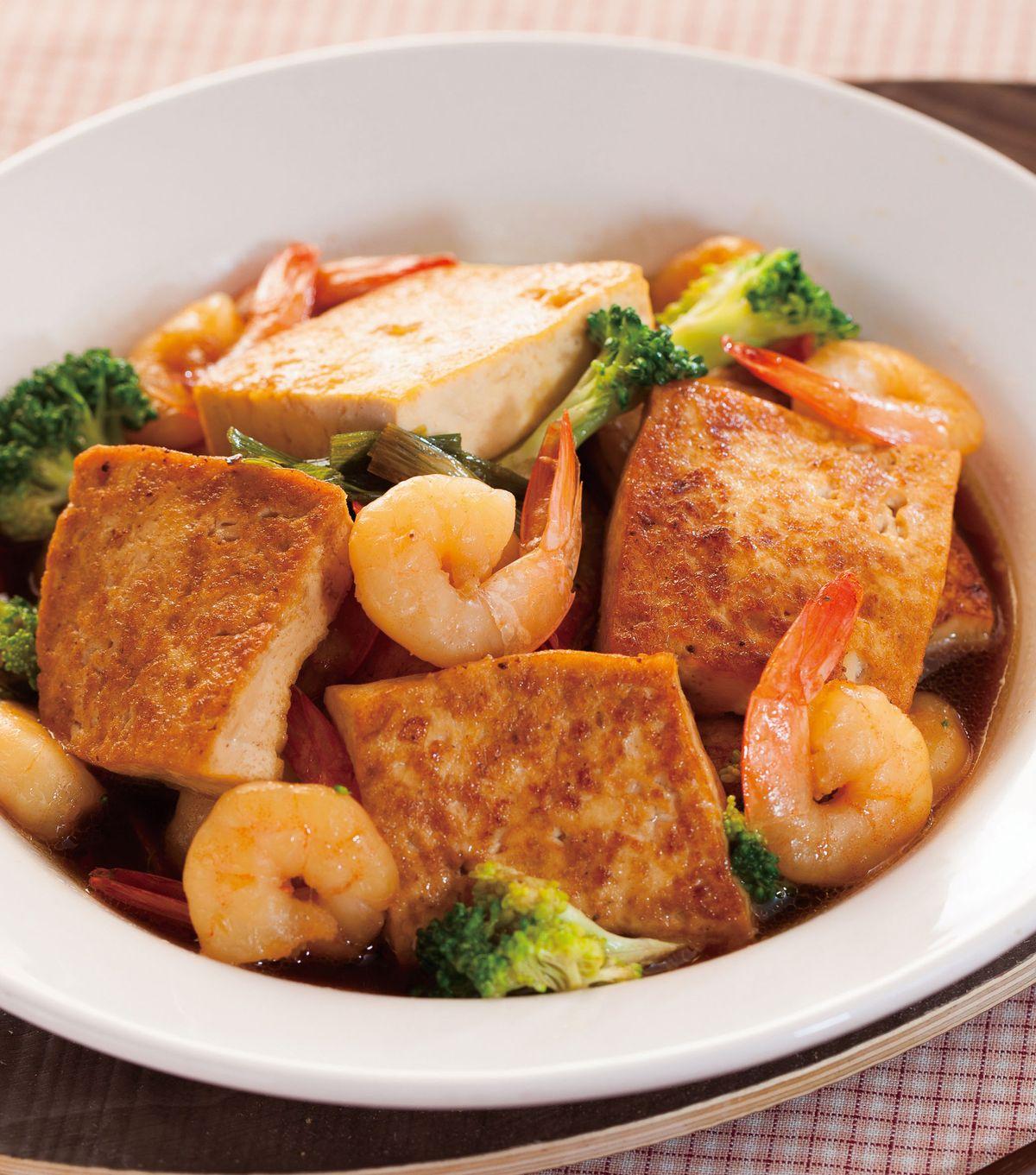 食譜:蝦仁燒豆腐(1)