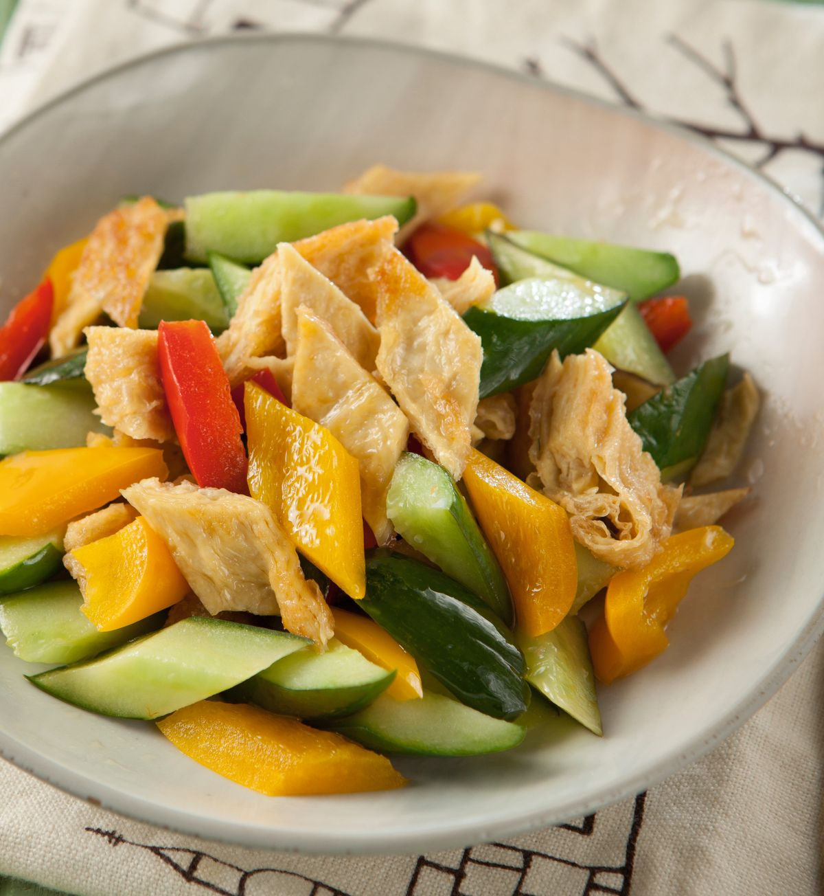 食譜:醋烹小黃瓜豆包