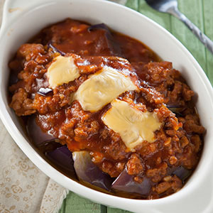 絞肉茄汁烤茄子