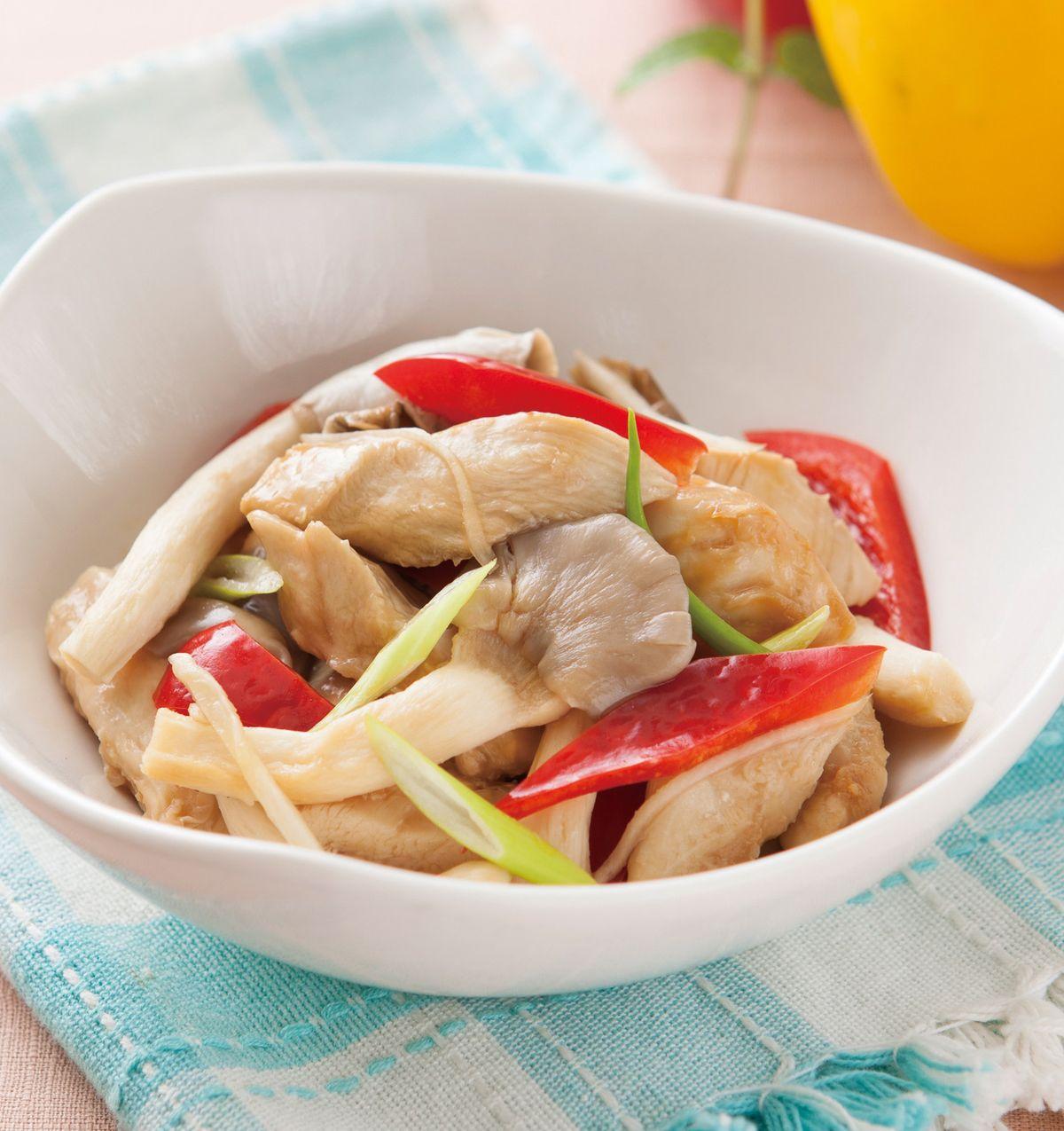 食譜:秀珍菇醬香雞柳