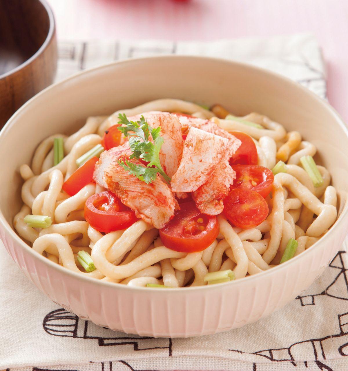 食譜:蟹肉涼拌米苔目