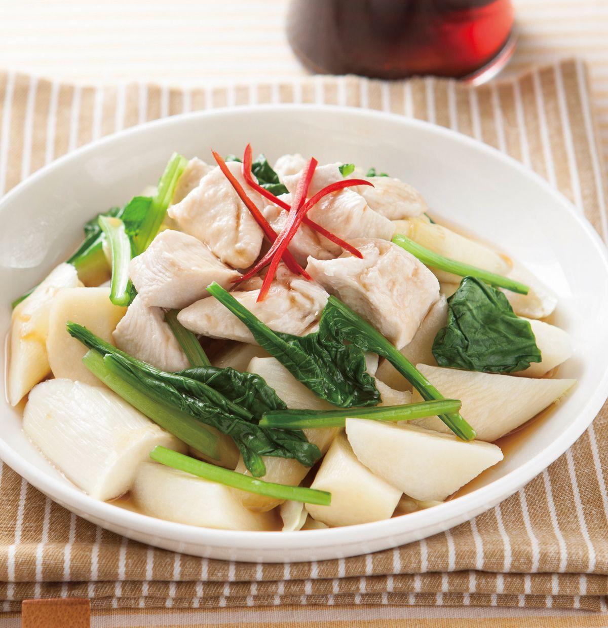 食譜:醬淋嫩雞茭白筍