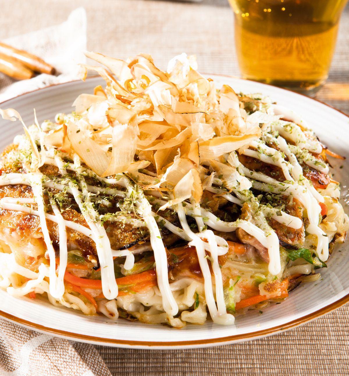 食譜:海鮮廣島燒
