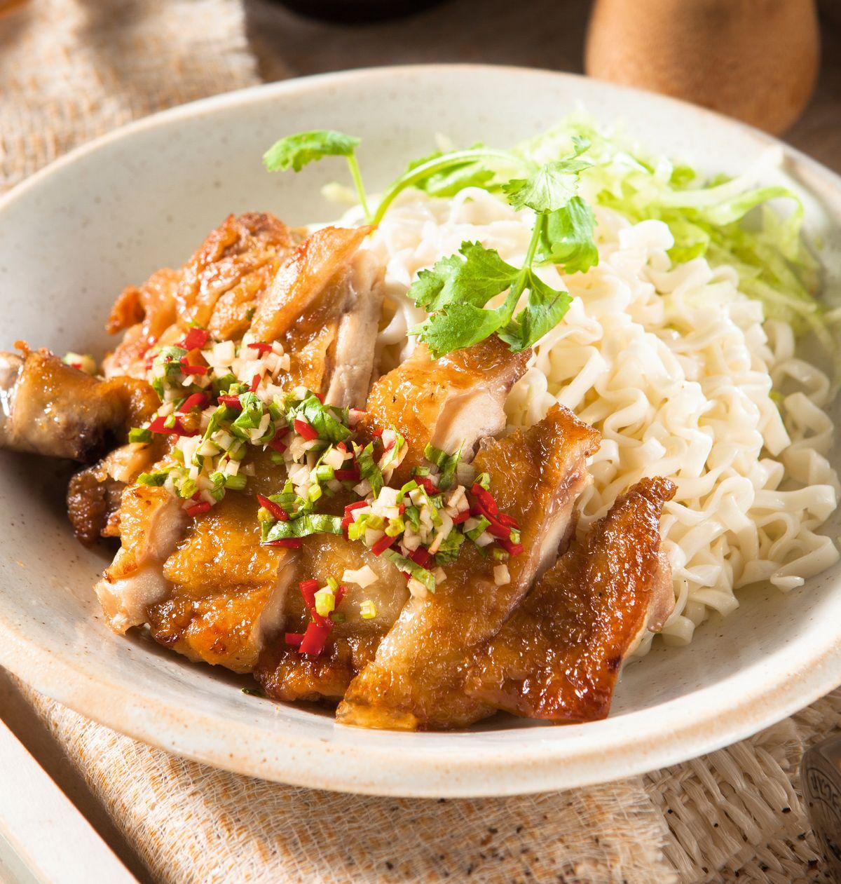 食譜:泰式椒麻雞拌麵