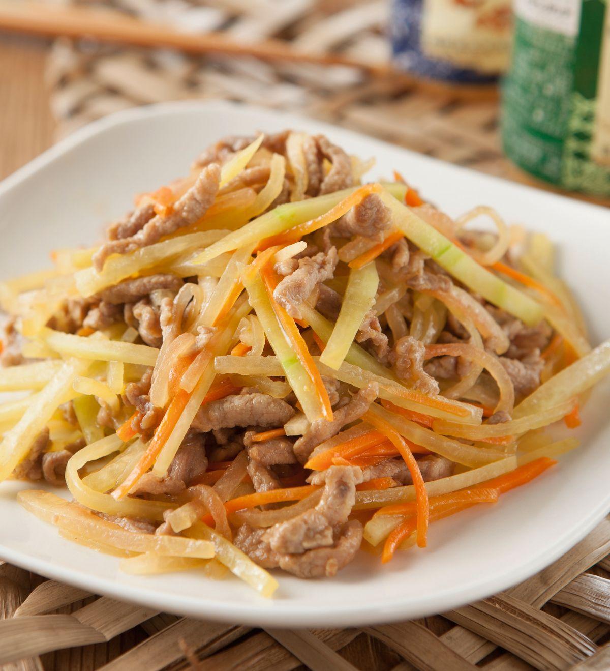 食譜:西瓜皮炒肉絲