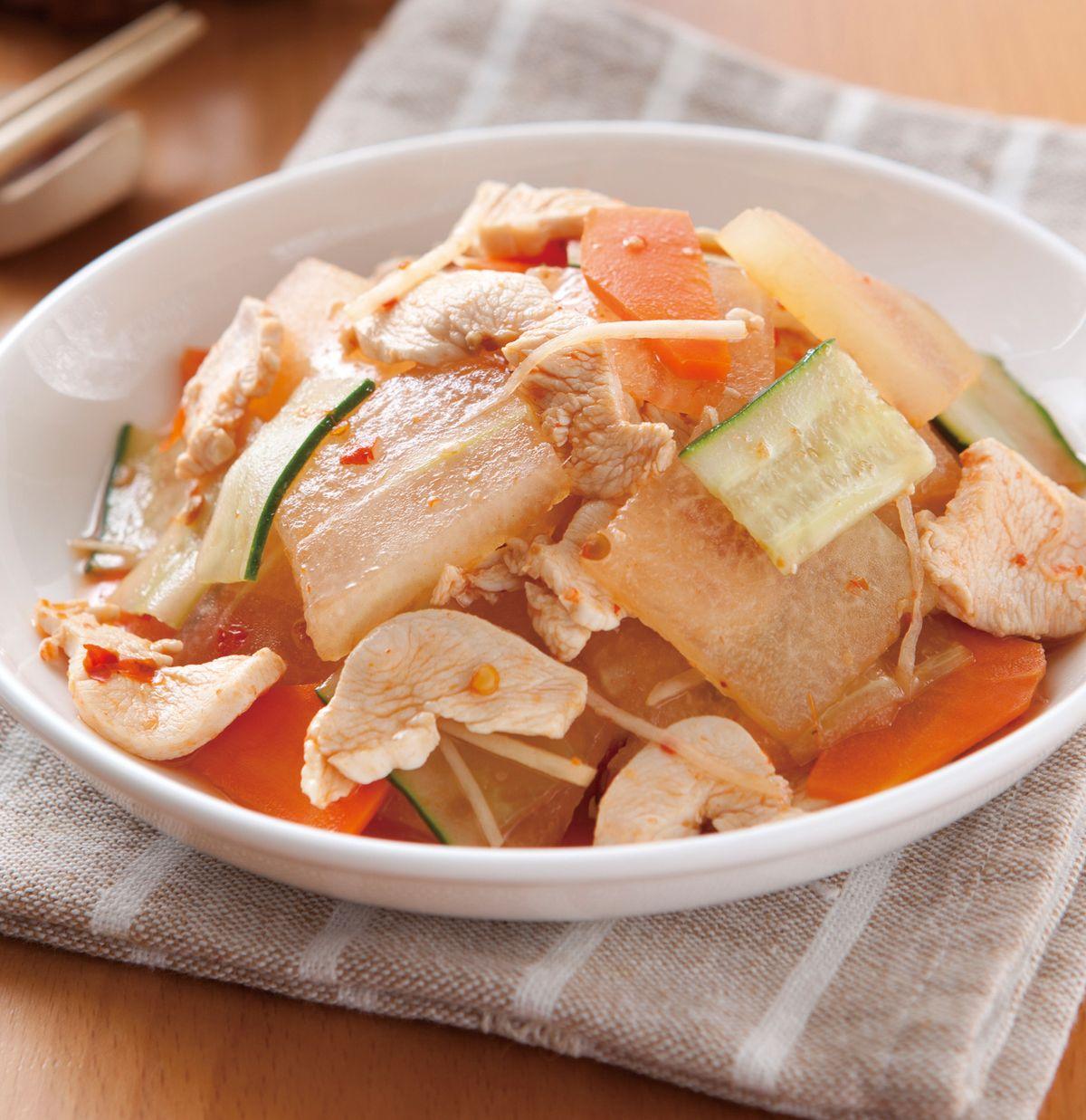 食譜:雞片拌冬瓜