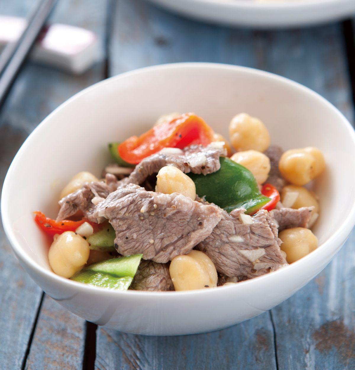 食譜:牛肉片拌鷹嘴豆