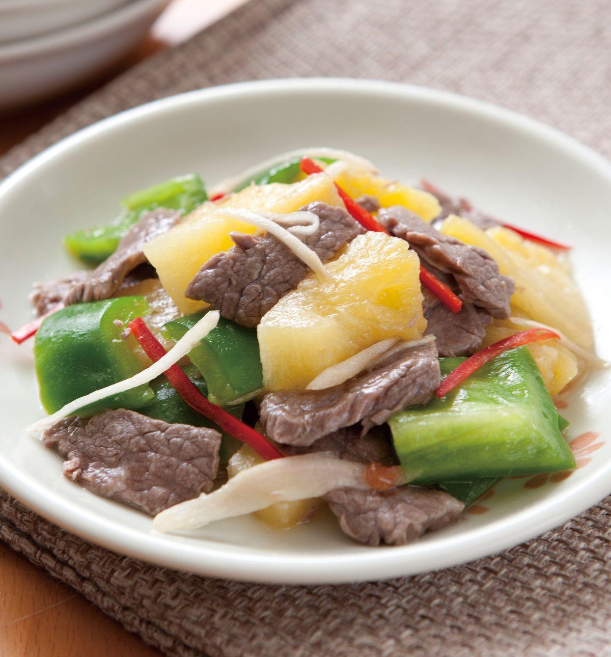 食譜:鳳梨拌牛肉