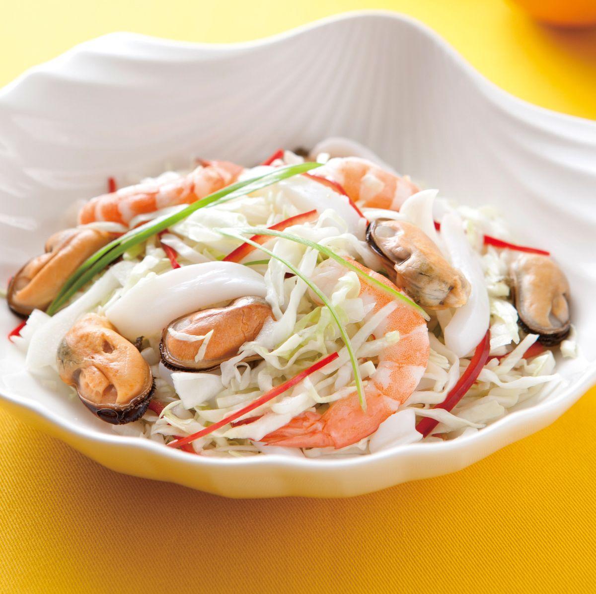 食譜:高麗菜拌海鮮