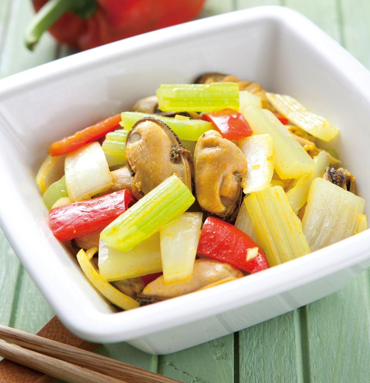 食譜:咖哩拌淡菜