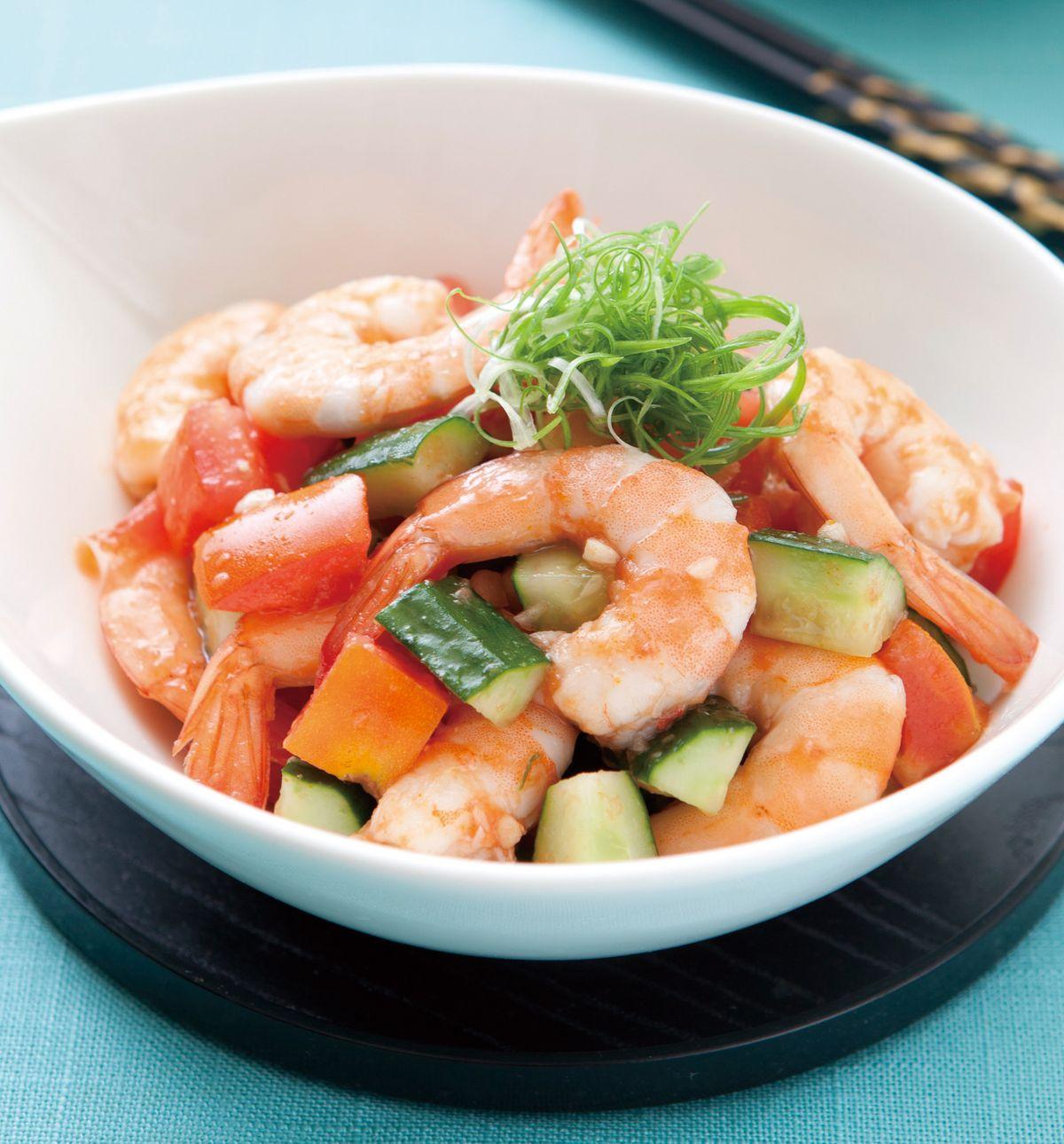 食譜:蕃茄拌蝦仁