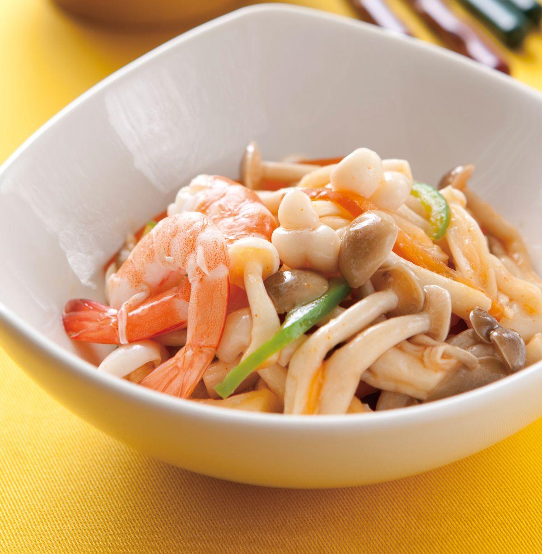 食譜:雪白菇拌蝦仁