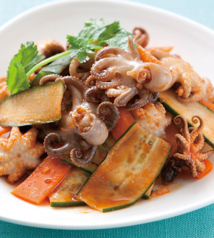 食譜:韓式辣醬拌小章魚