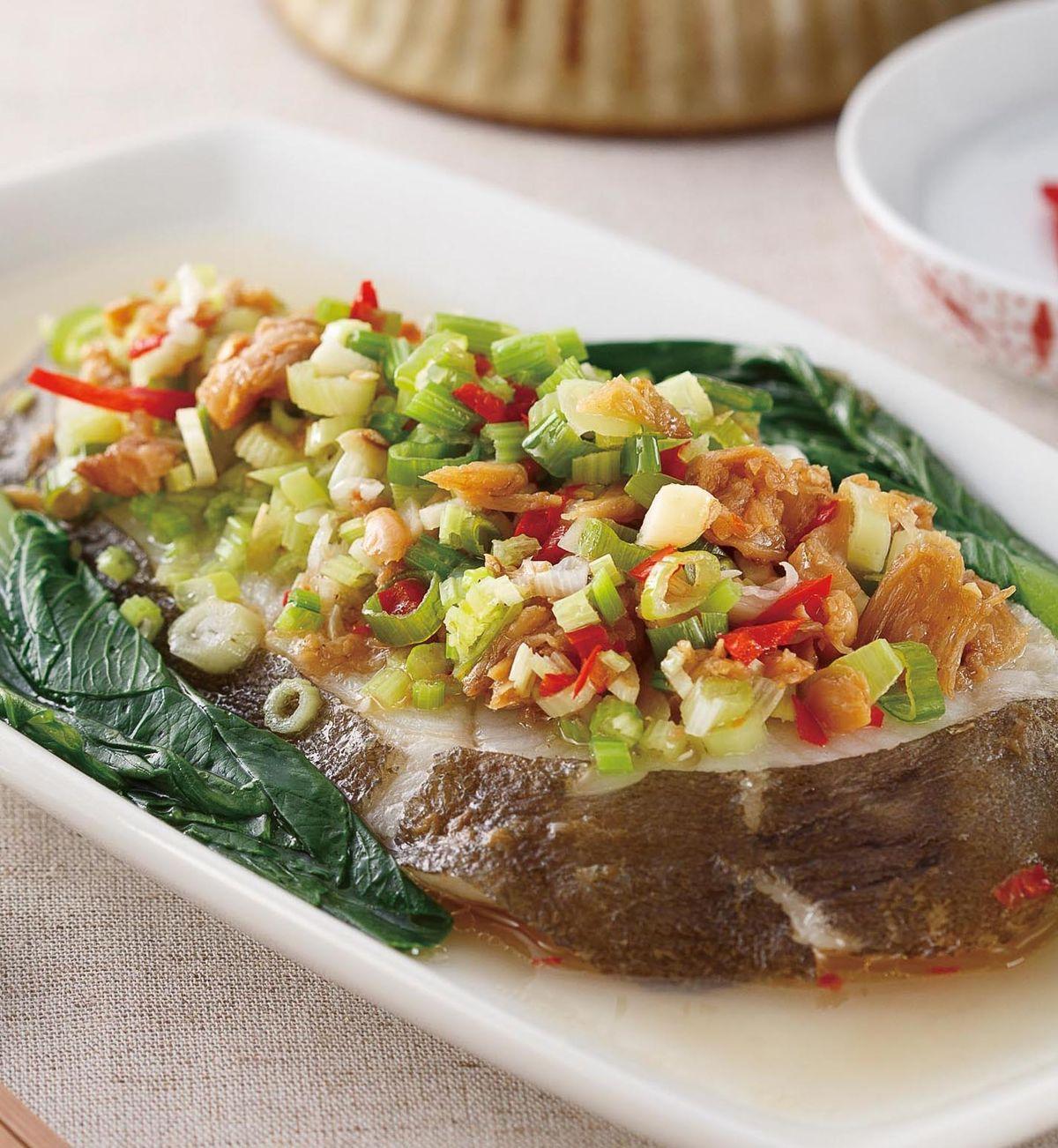 食譜:冬菜蒸鱈魚
