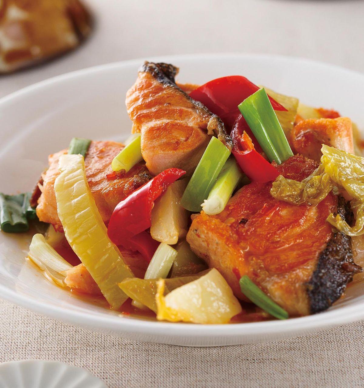 食譜:酸菜鮭魚片
