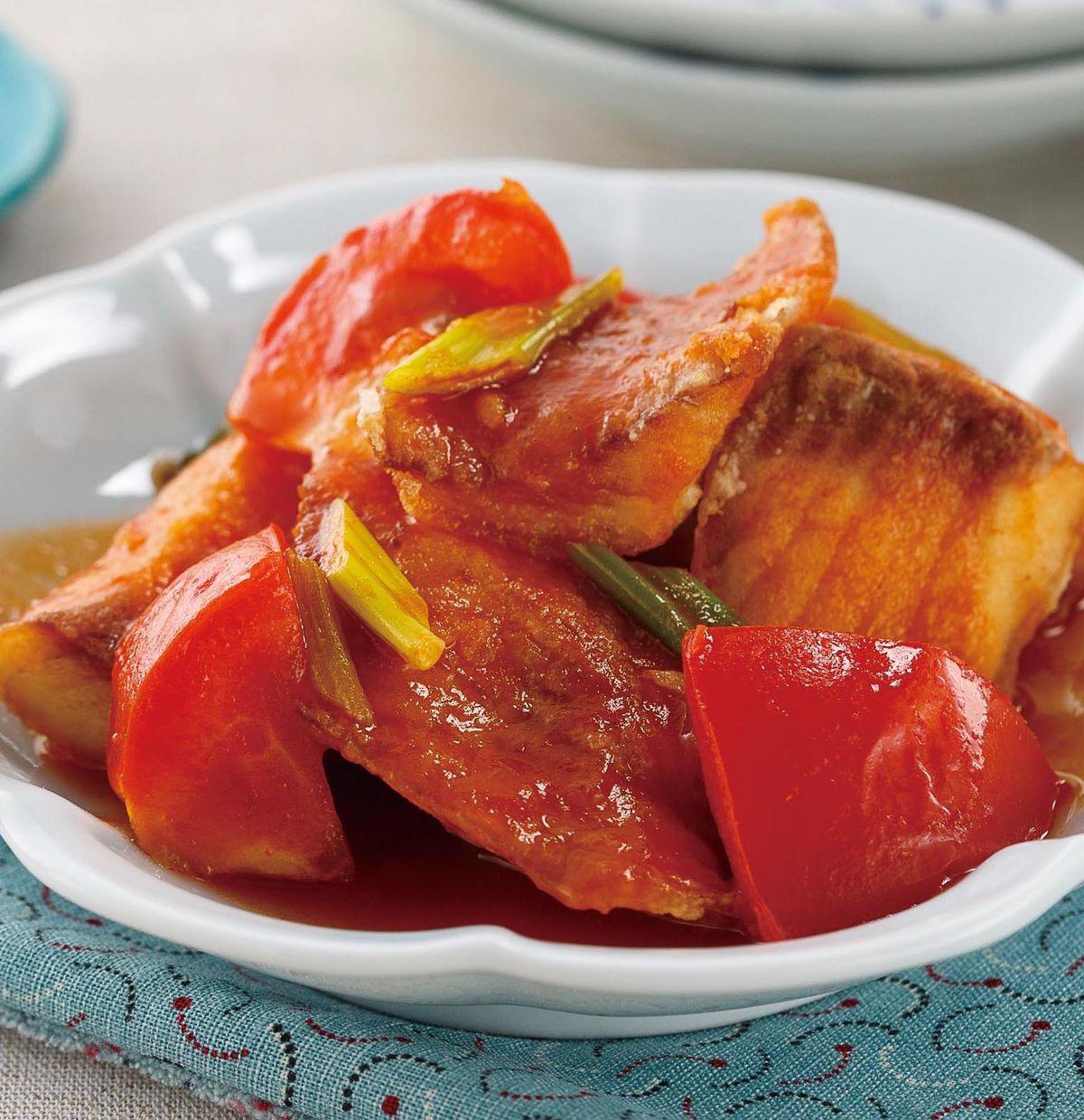 食譜:茄汁燴魚片
