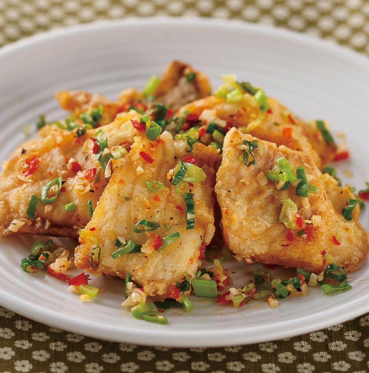 食譜:蔥爆鯛魚片