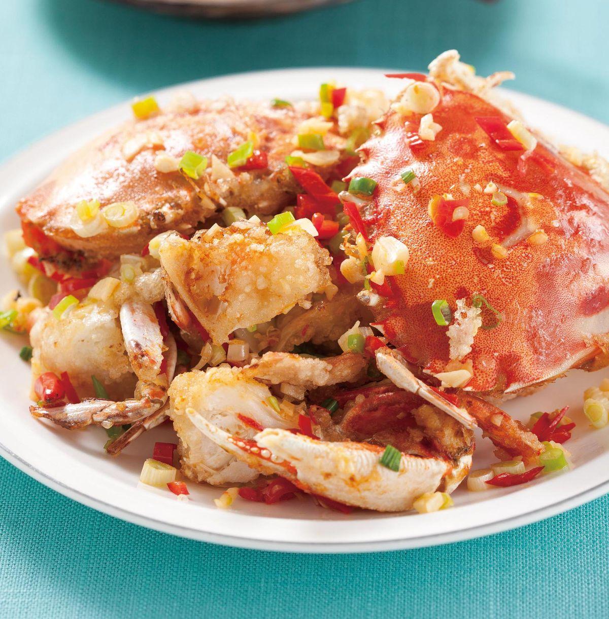 食譜:椒鹽螃蟹