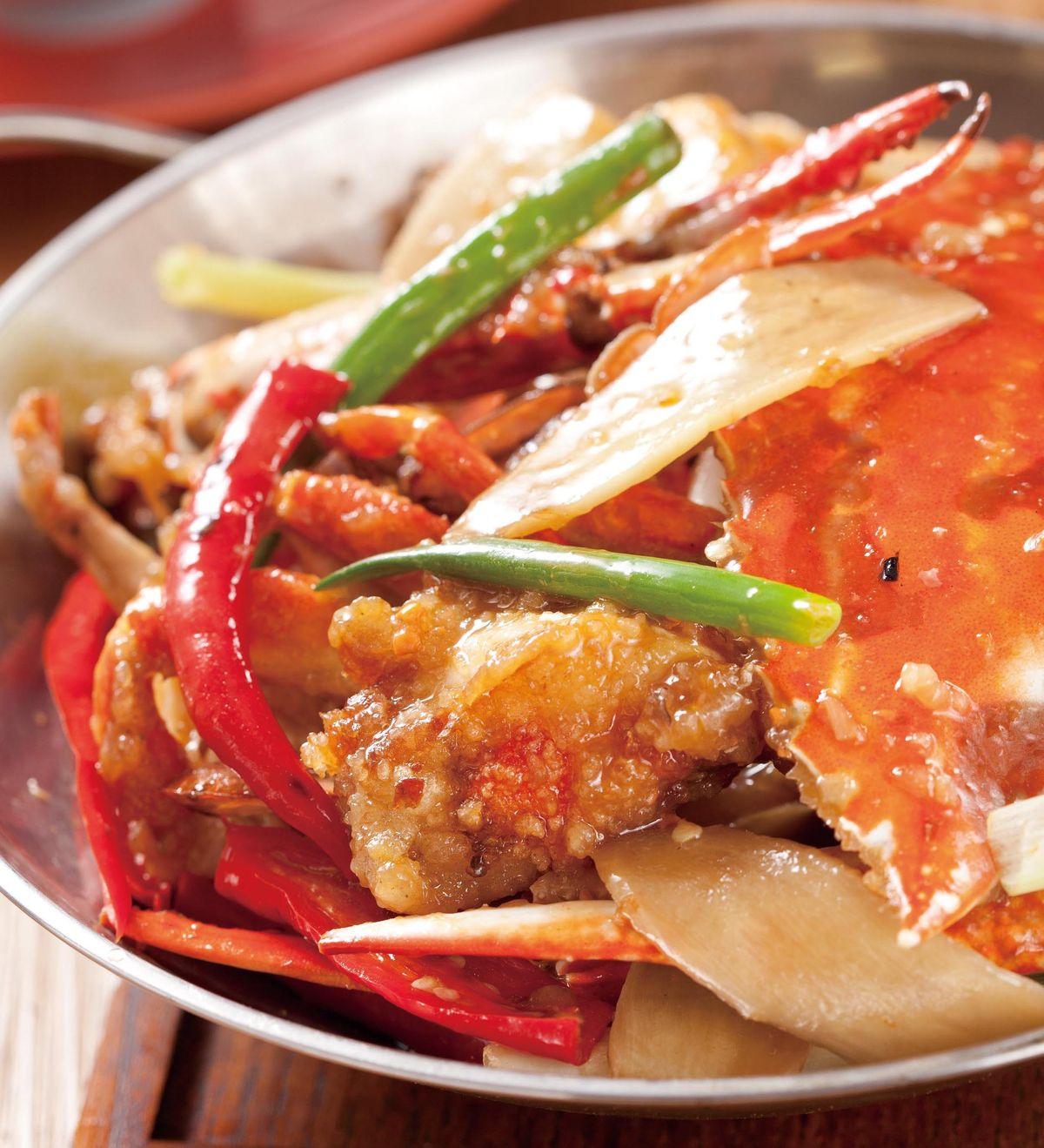 食譜:薑蔥螃蟹煲