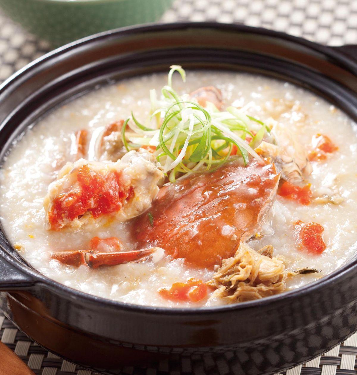 食譜:鮮蟹粥