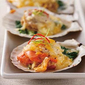 起司菠菜烤扇貝