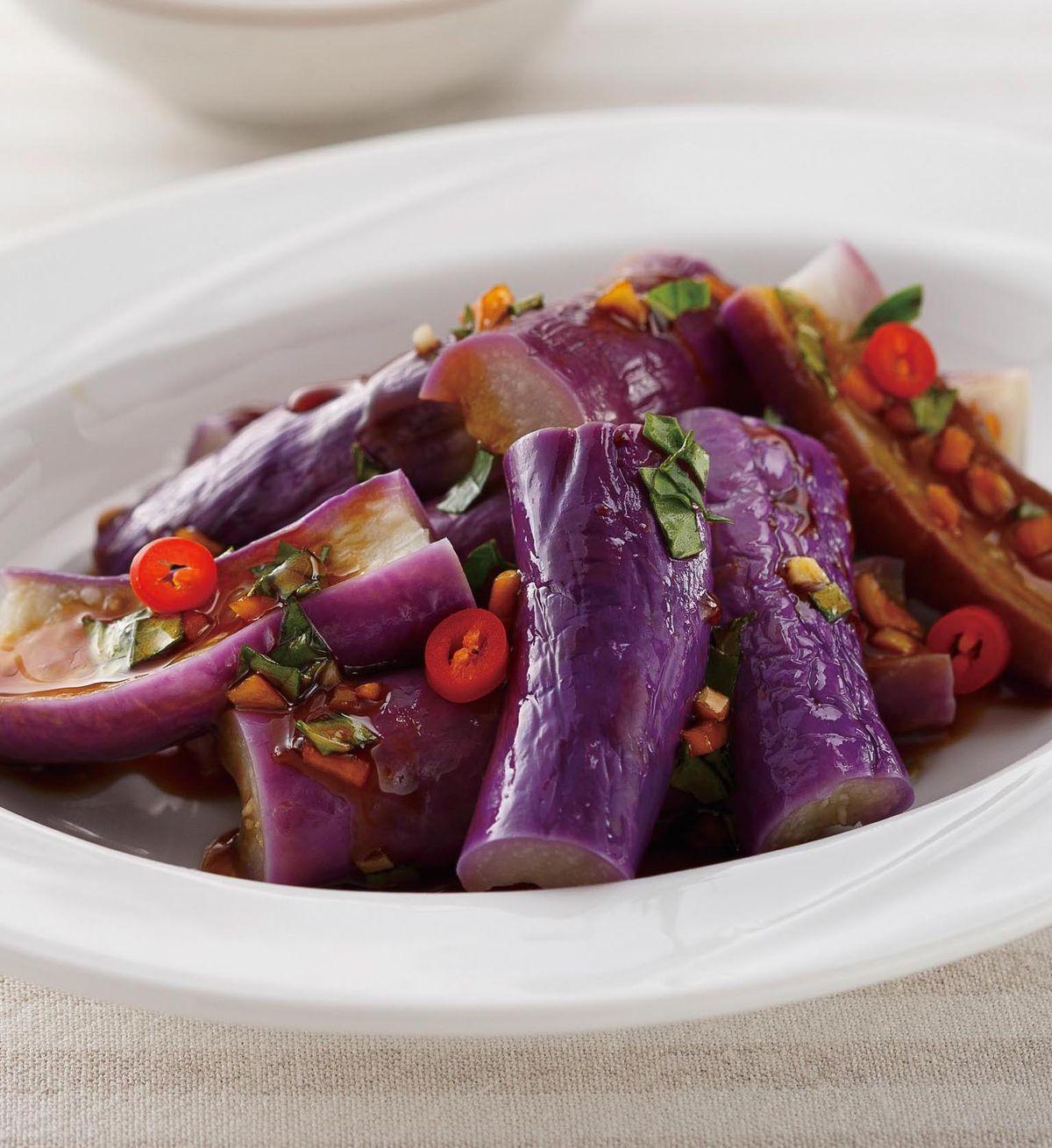 食譜:塔香蒜醬茄子