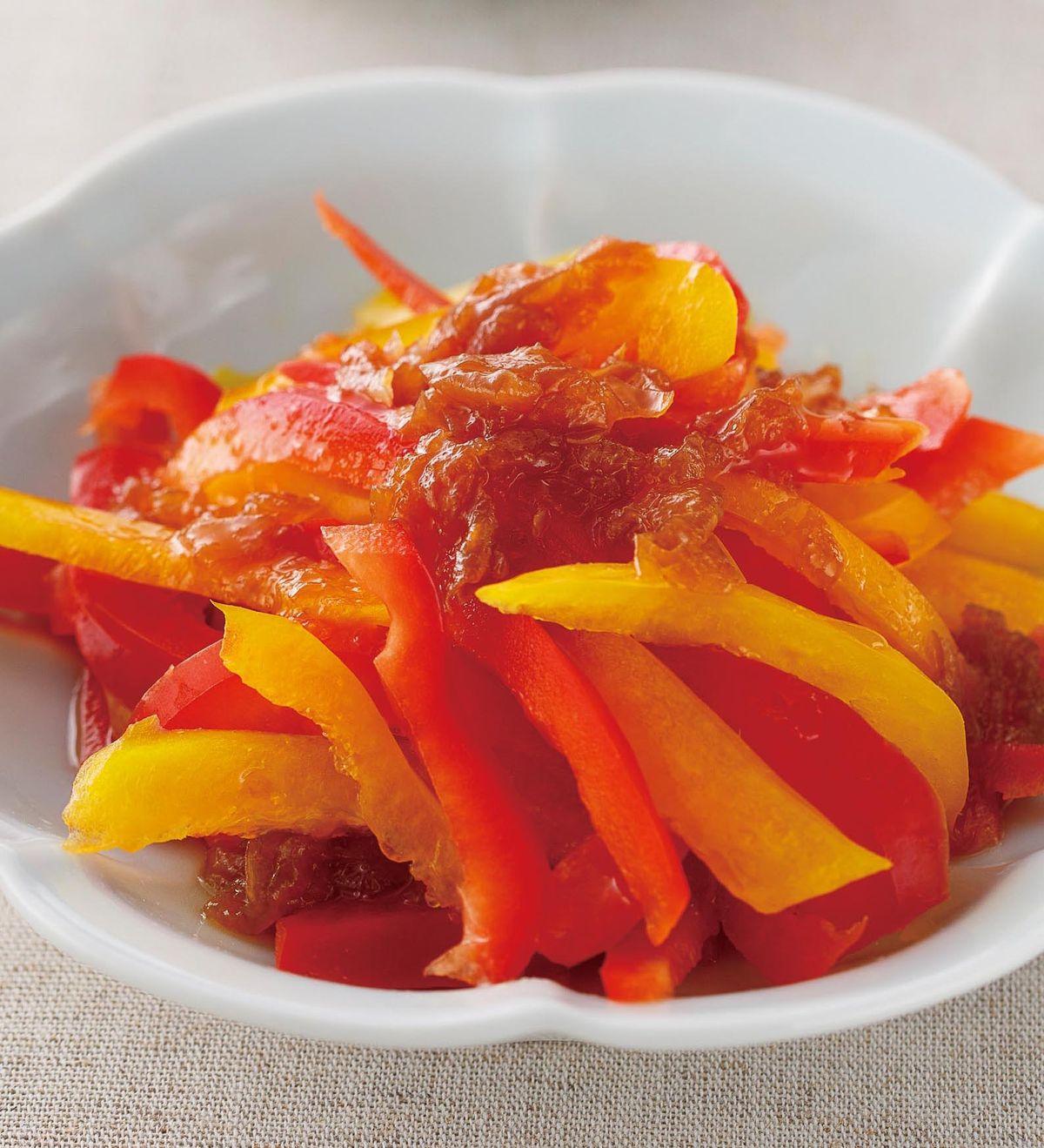 食譜:梅子醬彩椒