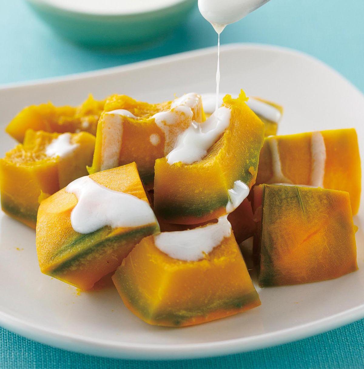 食譜:橄欖油優格醬南瓜