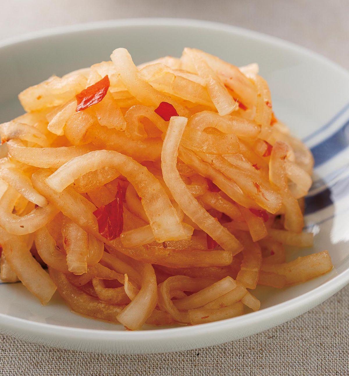 食譜:豆瓣醋辣醬白蘿蔔