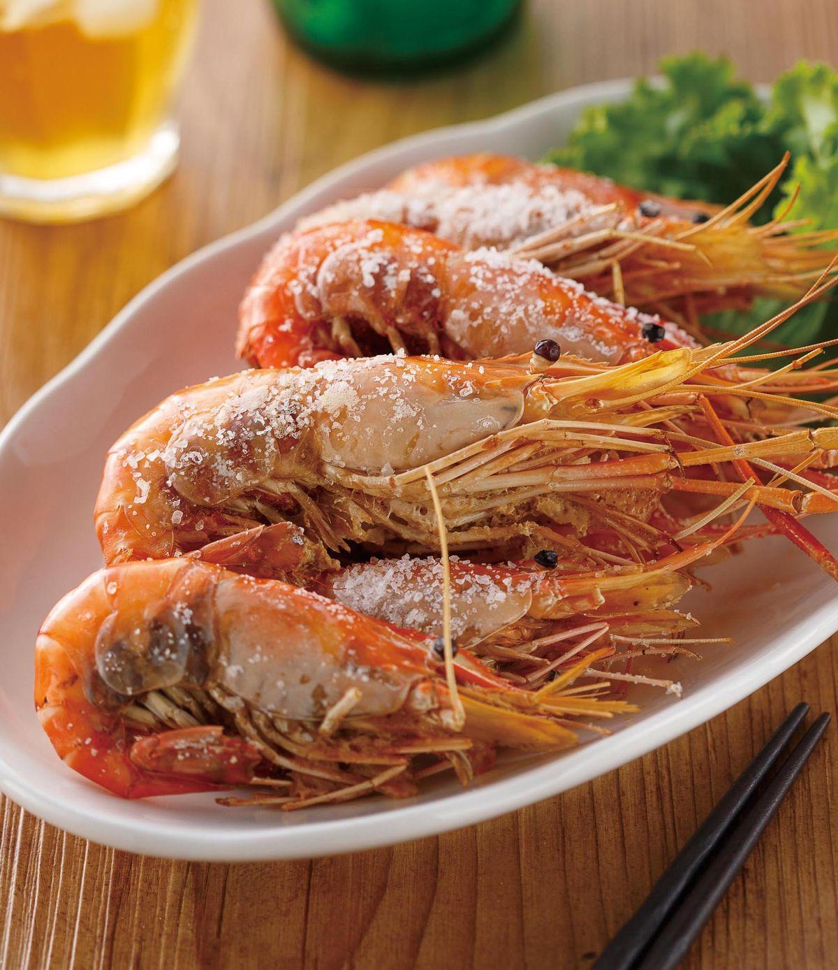 食譜:鹽烤泰國蝦