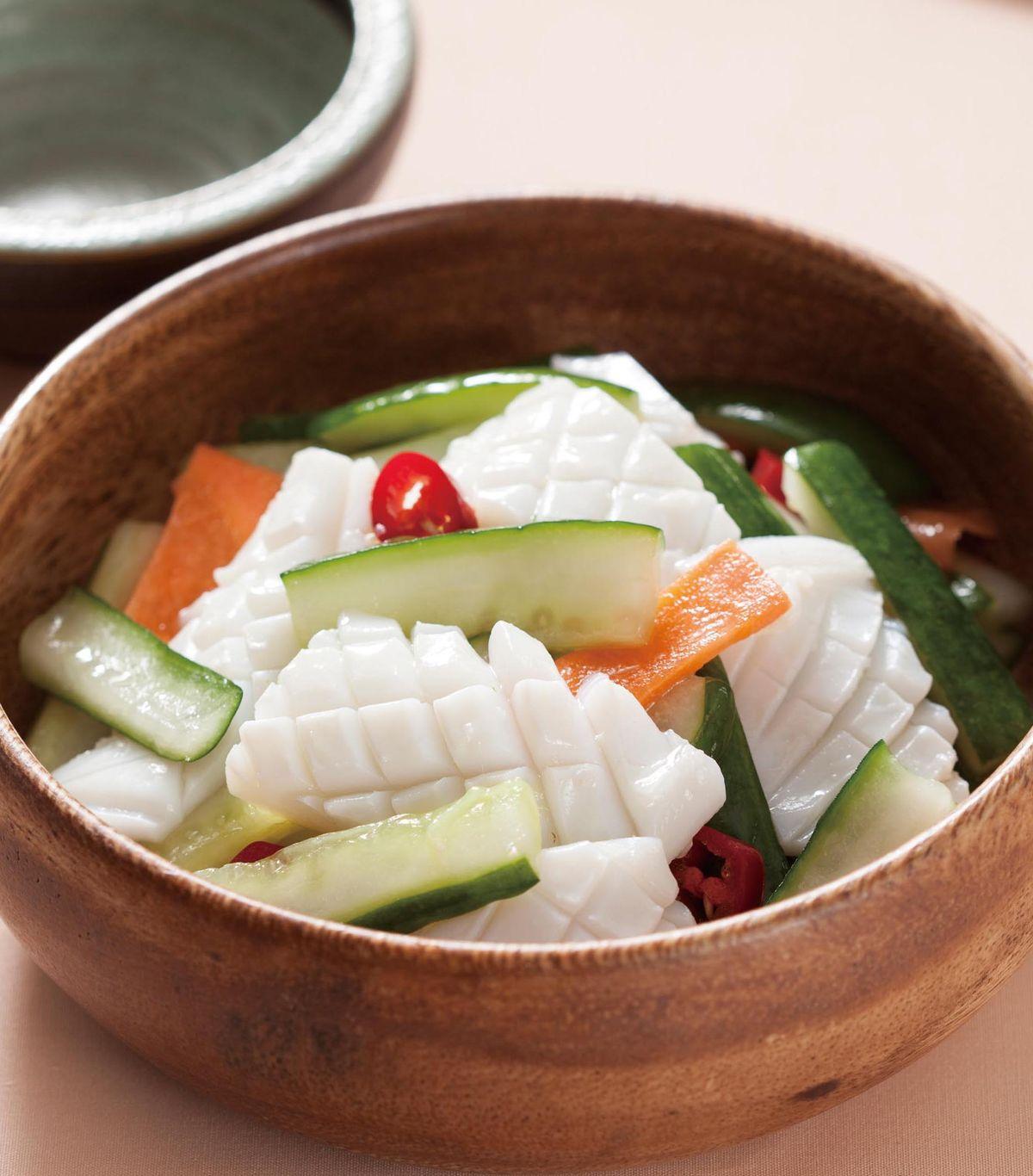 食譜:黃瓜拌透抽