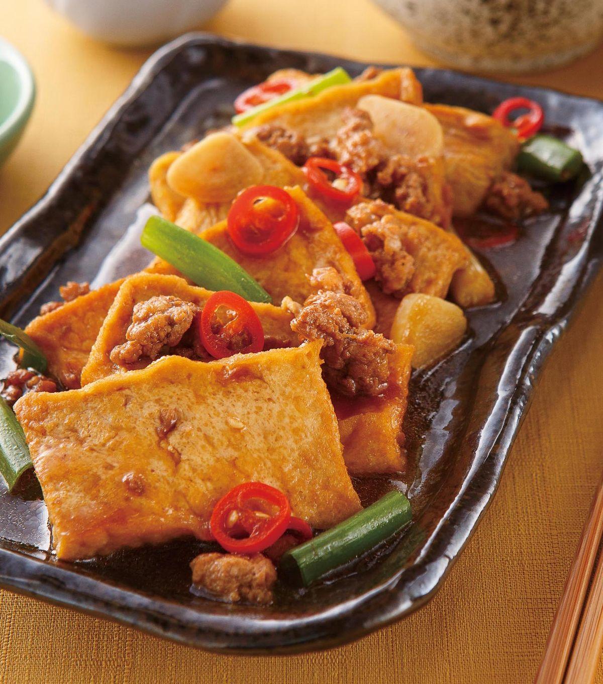 食譜:蔥燒豆腐(2)
