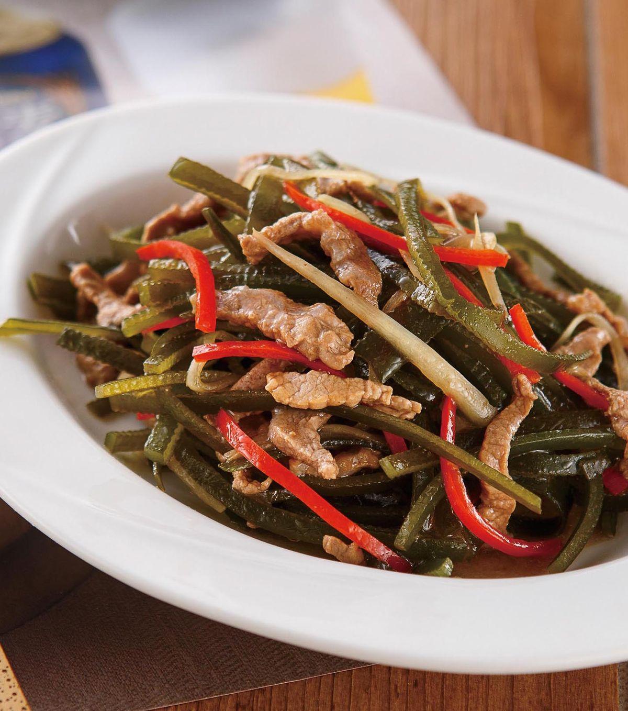 食譜:肉絲炒海帶