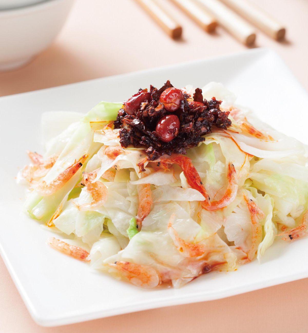 食譜:櫻花蝦蒸高麗菜
